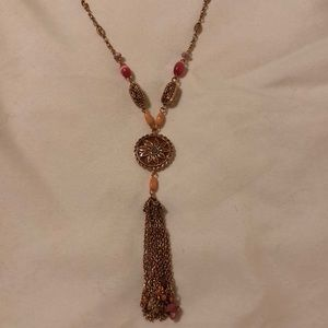 Liz Claiborne copper pendant necklace